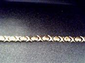 Gold Link Bracelet 10K Yellow Gold 2.6dwt